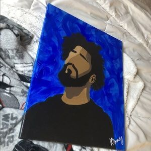 J Cole original painting by me